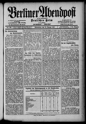Berliner Abendpost on Jan 31, 1907