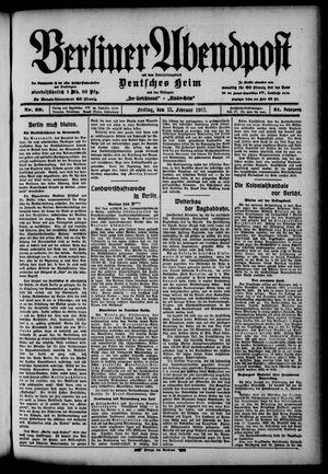 Berliner Abendpost on Feb 15, 1907