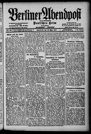 Berliner Abendpost on Mar 23, 1907