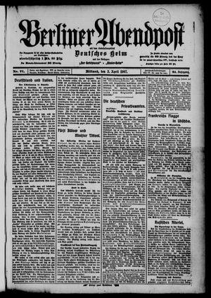 Berliner Abendpost on Apr 3, 1907