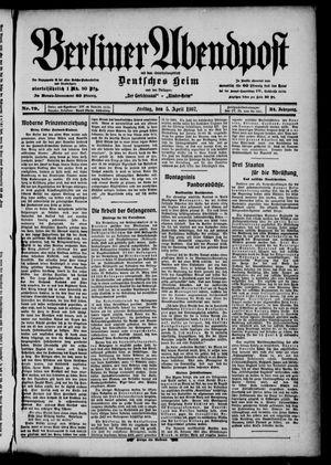 Berliner Abendpost on Apr 5, 1907