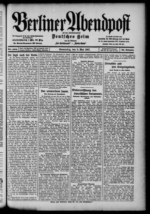 Berliner Abendpost on May 9, 1907