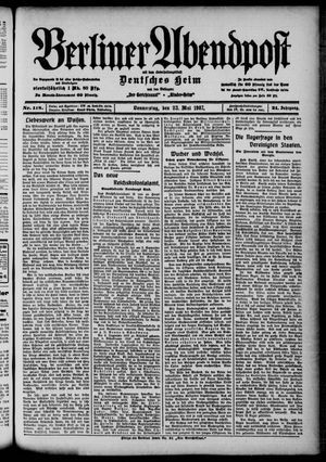 Berliner Abendpost on May 23, 1907