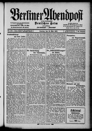 Berliner Abendpost on May 26, 1907