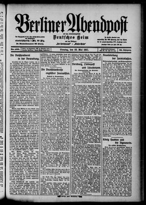 Berliner Abendpost on May 28, 1907