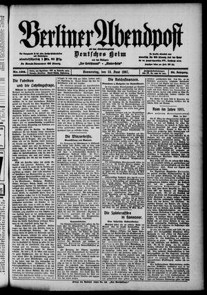 Berliner Abendpost on Jun 13, 1907