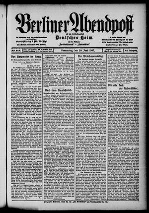 Berliner Abendpost on Jun 20, 1907