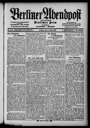 Berliner Abendpost vom 21.06.1907