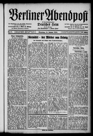 Berliner Abendpost on Jan 14, 1913
