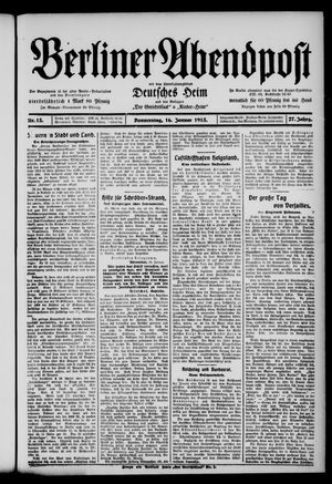 Berliner Abendpost on Jan 16, 1913