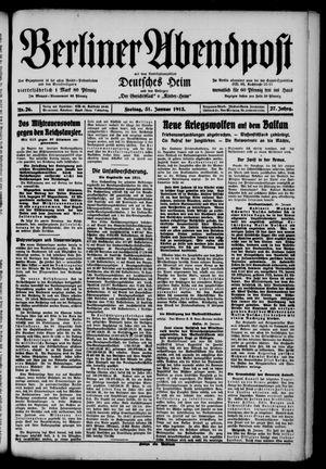 Berliner Abendpost on Jan 31, 1913