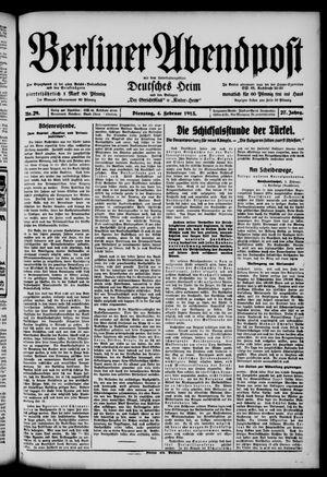 Berliner Abendpost on Feb 4, 1913