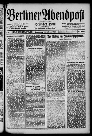Berliner Abendpost on Feb 13, 1913