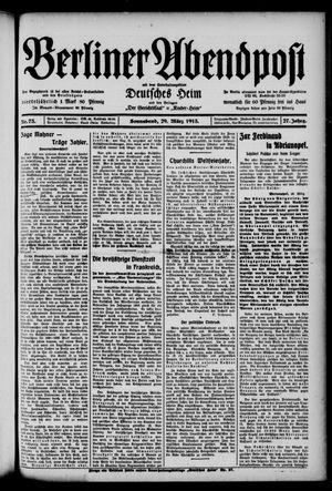Berliner Abendpost on Mar 29, 1913