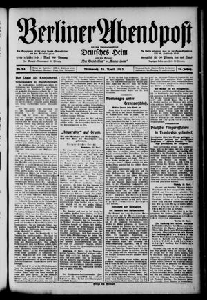 Berliner Abendpost on Apr 23, 1913