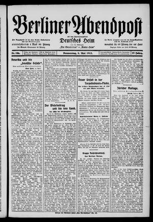 Berliner Abendpost vom 08.05.1913