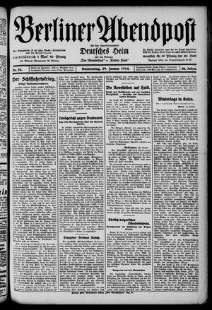 Berliner Abendpost on Jan 29, 1914