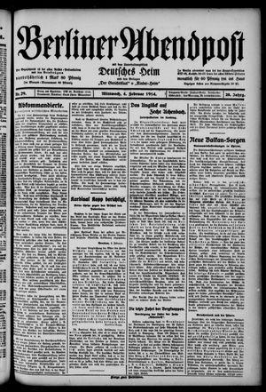 Berliner Abendpost on Feb 4, 1914