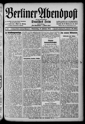Berliner Abendpost on Feb 19, 1914