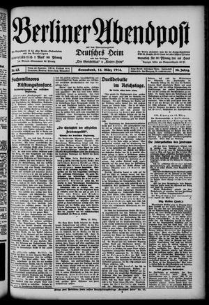 Berliner Abendpost on Mar 14, 1914