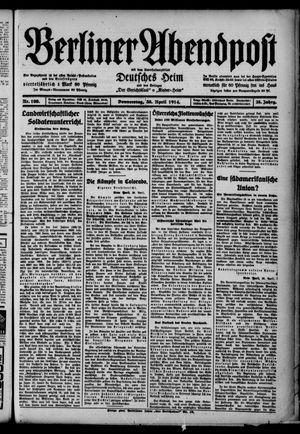 Berliner Abendpost on Apr 30, 1914