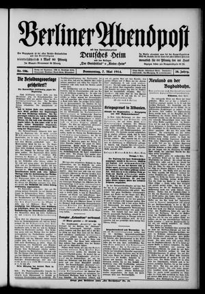 Berliner Abendpost on May 7, 1914