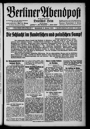 Berliner Abendpost on Jan 9, 1915