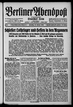 Berliner Abendpost on Jan 10, 1915