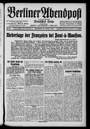 Berliner Abendpost on Jan 23, 1915
