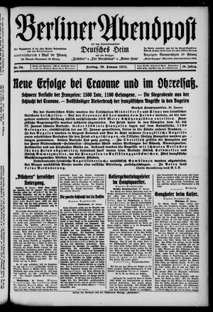 Berliner Abendpost on Jan 29, 1915