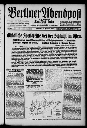 Berliner Abendpost on Feb 14, 1915
