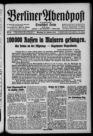 Berliner Abendpost on Feb 23, 1915