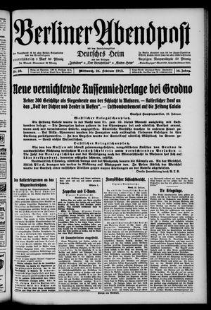 Berliner Abendpost on Feb 24, 1915
