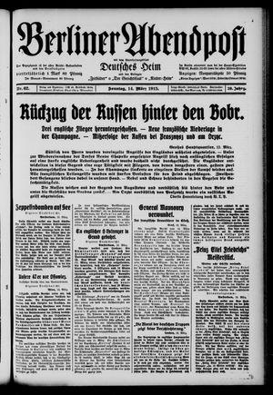 Berliner Abendpost on Mar 14, 1915