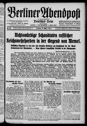 Berliner Abendpost on Mar 19, 1915