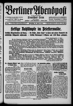 Berliner Abendpost on Apr 13, 1915