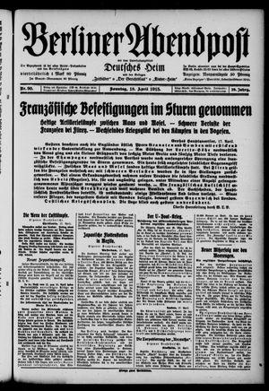 Berliner Abendpost on Apr 18, 1915