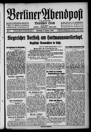 Berliner Abendpost on Jan 9, 1916