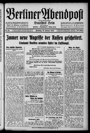 Berliner Abendpost on Jan 16, 1916