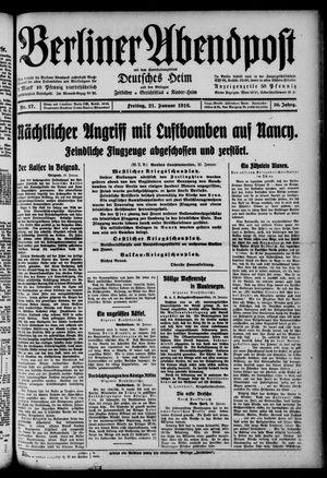 Berliner Abendpost on Jan 21, 1916