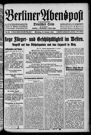 Berliner Abendpost on Jan 25, 1916