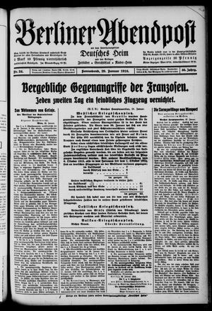 Berliner Abendpost on Jan 29, 1916