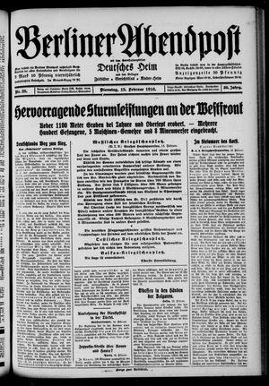 Berliner Abendpost on Feb 15, 1916