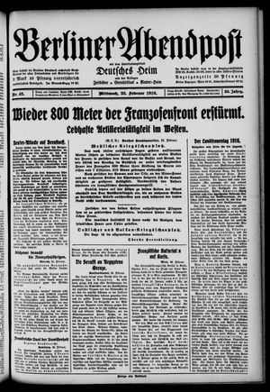 Berliner Abendpost on Feb 23, 1916