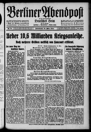 Berliner Abendpost on Mar 25, 1916
