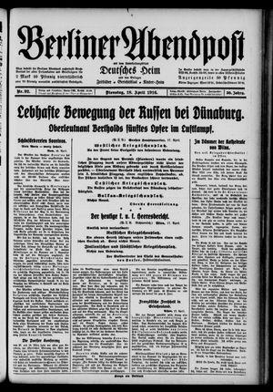 Berliner Abendpost on Apr 18, 1916