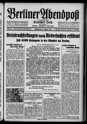 Berliner Abendpost vom 19.04.1916