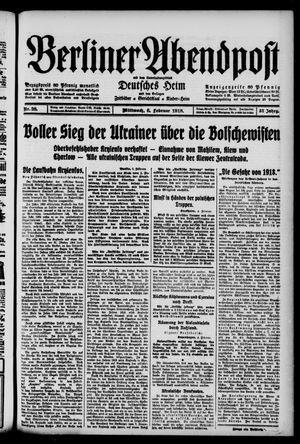 Berliner Abendpost on Feb 6, 1918