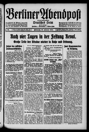 Berliner Abendpost on Feb 27, 1918