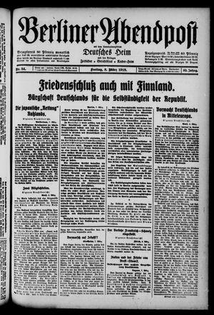 Berliner Abendpost on Mar 8, 1918